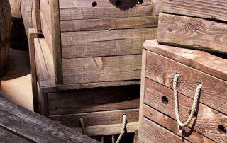 Lager Holzkisten