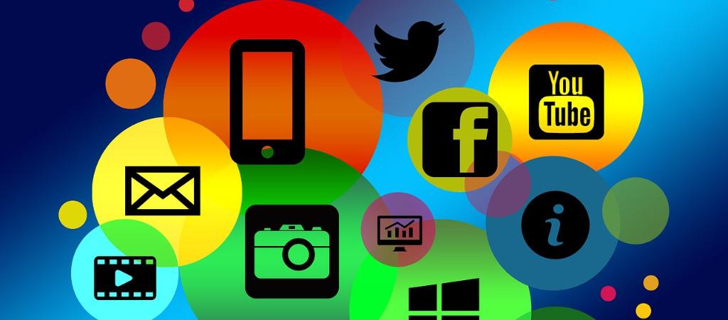 Icons der verschiedenen Social Media kanäle