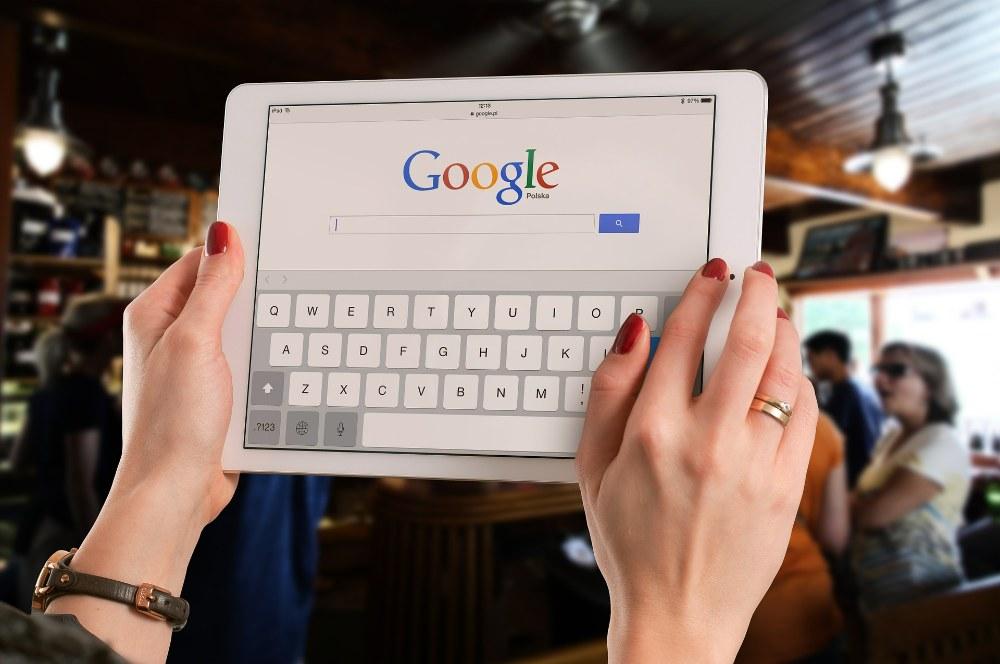 Google-Suche mit iPad