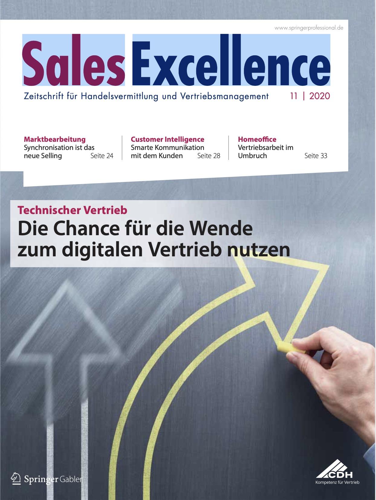 Das Cover der Sales Excellence Ausgabe Juni 2020